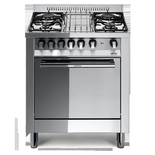 Cucina a gas 70x50 inox lucidato classe a forno elettr 4 - Consumo gas cucina ...
