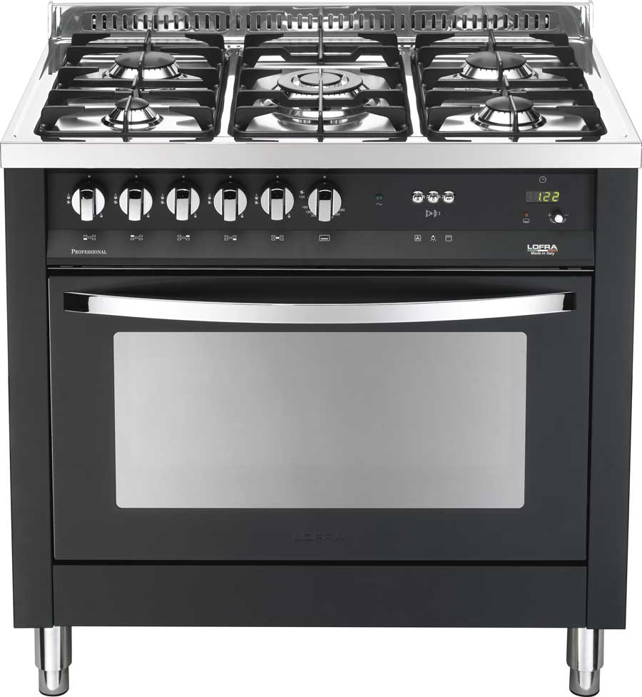 Cucina moderna Rainbow 90, nero matt - Lofra